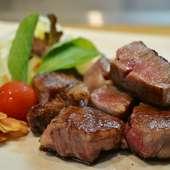 国産牛ヒレステーキやその日の食材を使った料理が楽しめる宴会向きのコース。120分間飲み放題付き!!