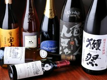 日本酒の種類も豊富にご用意しております。