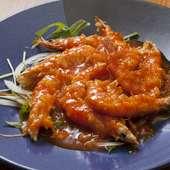 プリプリの食感とソースの相性がたまらない『海老チリ』