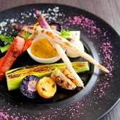 おまかせ季節の焼き野菜盛り合わせ~バーニャカウダーソース添え
