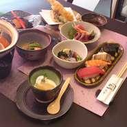 旬の食材を中心に、質・量ともにご満足いただけるコースです。