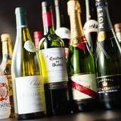 神戸牛に合うワインを豊富にご用意