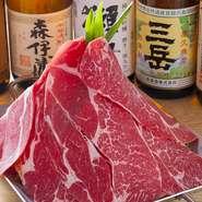 使用する牛肉は、国産和牛。特定の産地に絞り込んでいないのは、「今」、最も脂がのっている新鮮な牛肉を使用するため。さらに、「キャベツ」など野菜類は地元のものを中心に使用しています。