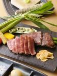 熟成肉のステーキと横田農場有機野菜