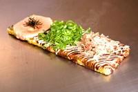 3種類の味でボリューム1.5倍 コーンチーズ、豚ネギ、明太子もちチーズ