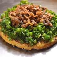 甘濃く煮た「牛肉」と 桃太郎ネギの相性がたまらない