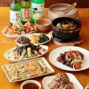 「豚肉」や「鶏肉」は、素材を活かした仕込みを丁寧に行っています。組み合わせる食材には、豆腐や豆乳を選定。韓国料理を気軽に味わってもらいたいという思いから、身近な食材で本格的な料理を作っています。