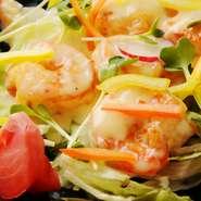 プリプリ海老マヨは「ほの花」の人気メニューの一つ。一度、お試しくださいね
