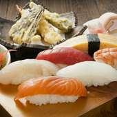 美味しいお寿司のランチでちょっと贅沢に女子会