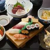 海鮮づくしでお腹も満足『寿し定食(上)』