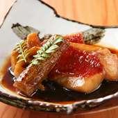 秋から冬が旬。季節限定の『金目鯛の煮つけ』