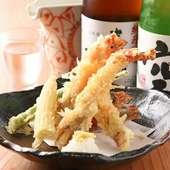 海老の鮮度の良さがいきています! 『車海老の天ぷら』
