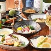 美味しい料理が盛りだくさん。お得な『5000円コース』