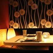ゆったりとした個室空間が、いつものデートを特別なものにかえる