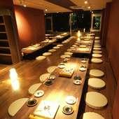 大人数の宴会大歓迎!2Fの個室は60名様まで可能です