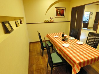 個室を利用すれば、子連れでも本格イタリアンが家族で楽しめる