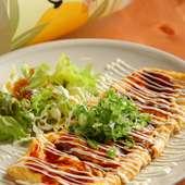 豚肉を焼き、卵で巻いた大阪の定番の味『トンペイ焼き』