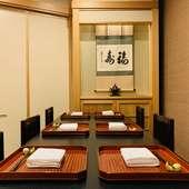 銀座の個室日本料理店でのお祝い事