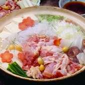 地産の食材、旬の食材をあつらえた鍋メニューをご用意しております