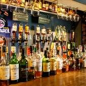 幅広いお客様に充実した時を過ごしていただける豊富なお酒