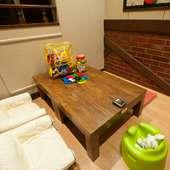 小さなお子様が遊べる積木などが嬉しい玩具