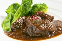 牛ほほ肉の赤ワイン煮込み 季節野菜添え