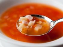 コースでご提供させていただくスープ