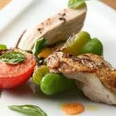 生産者がわかる地元の食材を使用したイタリアン