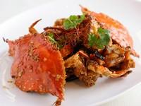 マイルドな『活蟹のシンガポール風チリ炒め』