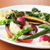 酸味のあるソース『地場の野菜のローストヴィネグレットソース』