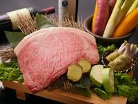 ランク金以上日本三大和牛松阪牛の霜降りコース。肉の芸術品ともいわれる最高の松阪牛をぜひご堪能ください