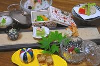食前酒/先付/前菜/椀/刺し/焼き物/煮物/揚物/酢の物/お食事/デザート/お抹茶