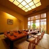 1階に6室・2階はテーブル席・和座敷対応のお部屋がございます