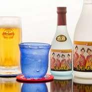 古酒をはじめ、様々な泡盛が種類豊富。グラスで少しずつ飲み比べをしてみたり、お気に入りの銘柄を探してみては。他にも沖縄ならではの地ビールや泡盛カクテルも楽しめます。