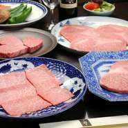 店主おすすめの厳選お肉を満喫! 「赤身が好き」など、好みの希望も聞いてくれます。