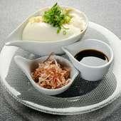店内で作るできたて『matsuiのなめらか豆腐』は絶品です