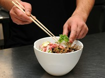 【DINING matsui】の一番人気、『ハンバーグ膳』