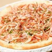 桜えびのピザ