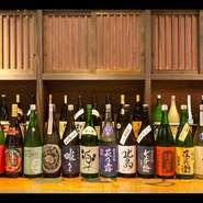 豊富に取り揃えた滋賀の地酒が自慢です。遠方からお越しの方は、旅の記念にもぜひお召し上がりください。