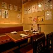 九州から取り寄せた本格焼酎が呑み比べできます