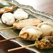 オホーツクの味覚を味わい尽くす! 『魚串5本セット』