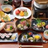旬の味を上品な会席料理でいただく『武蔵野』