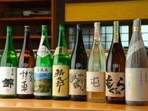『にぎり』や一品料理に合うお酒の種類も豊富