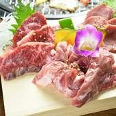 新鮮そのもののお肉。素材そのものの旨味を楽しめます