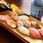 鮮度抜群! 石巻の旬の魚介類が堪能できる『おまかせ』にぎり