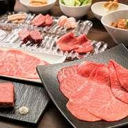 「焼肉うしごろ」と同様、国産A5黒毛和牛の中でも最高級とされるお肉のみを取り扱うこだわり。 焼肉以外の逸品メニューも充実しております。