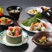 加賀の食材にこだわり、和食ならではの繊細さを込めた『昼御膳』