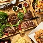 じっくり焼き上げたお肉が決めて「肉盛りグリルカーニバル」3時間飲み放題付コース4950円