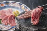 富士山溶岩石使用。自分で仕上げる楽しさ『和牛サーロインステーキ』
