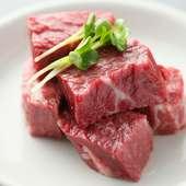 厚切りでお肉の旨味が堪能できる『特撰 和牛 上ハラミ』